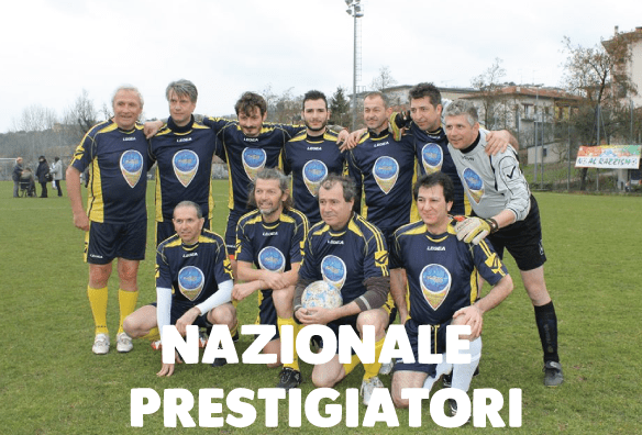 nazionale Calcio maghi prestigiatori Mago Massini prestigiatore illusionista