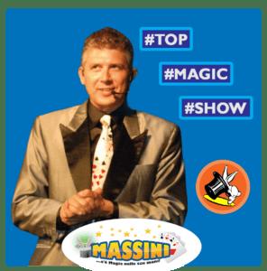 Banner sidebar Mago Massini prestigiatore illusionista
